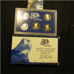 2004 S Five-Piece Statehood U.S. Quarter Proof Set. Original as issued. Five-piece Set.