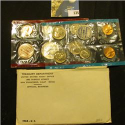 1968 U.S. Silver Mint set in original envelope as issued.