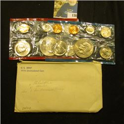 1974 U.S. Mint Set in original envelope as issued.