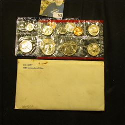 1981 U.S. Mint Set in original envelope as issued.