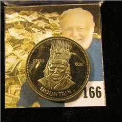 """c1833 1928 """"Mountain"""" British Columbia 1977 Nishga Dollar, Gem BU."""