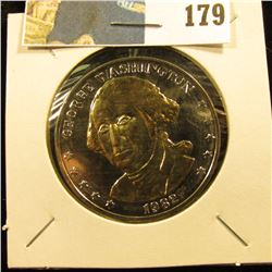 1782-1982 250th Anniversary George Washington Commemorative Medal, layered in .999 Fine Silver & 24K