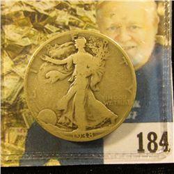 1938 D Walking Liberty Half Dollar, VG. Nice Key date.