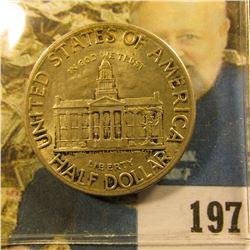 1846-1945 Iowa Centennial Commemorative, Nice original toning.