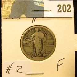 1917 P Type I Standing Lib Quarter - Fine