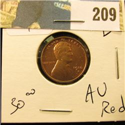 1916 D Lincoln Cent - AU red