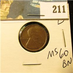 1918 D Lincoln Cent - MS 60 BN