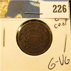 1865 2 cent piece G-VG