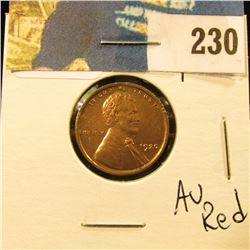 1920 Lincoln Cent - AU red
