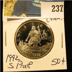 1992 S Columbus Comm Proof Half Dollar