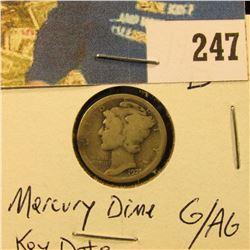 1921 D Mercury Dime G/AG Key Date