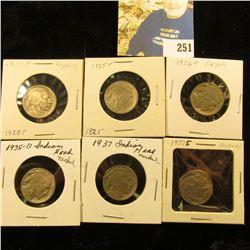 6 more Buffalos G & better  1920,25,26,35-D,37, 37-S