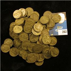 (92) Silver War Nickels circulated, mixed dates