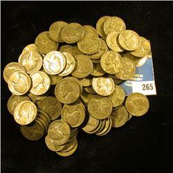 (98) Silver War Nickels circulated, mixed dates