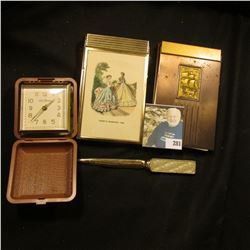 """Note pad with Metal cover and holder, raised design of Sailing Ship; Metal Note Pad with Cover """"Gode"""