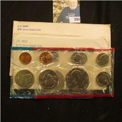 1975 & 1981 U.S. Mint Sets in original cellophane and envelopes.