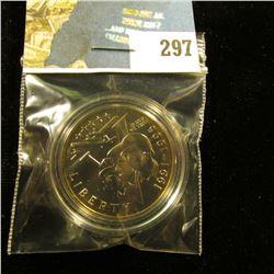 1991-1995 P World War II Gem BU Commemorative Half-Dollar, encapsulated.