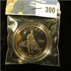 1995 S Deep Mirror Proof Cameo Civil War Drummer Boy Commemorative Half-Dollar, encapsulated.