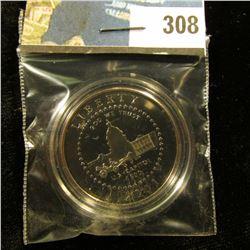 2001 P Proof 68+ Capitol Commemorative Half-Dollar, encapsulated.