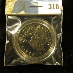 1991-1995 P World War II Proof 68+ Commemorative Half-Dollar, encapsulated.