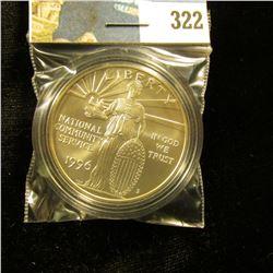 1996 S U.S. National Community Service GEM BU 69 Silver Dollar, encapsulated.