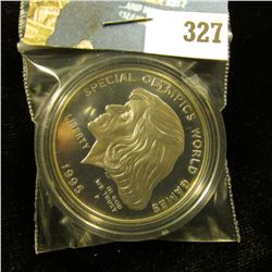 1995 P U.S. Cameo Proof Silver Dollar Special Olympics World Games Eunice Kennedy Shriver, encapsula