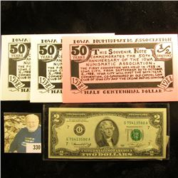 "Series 1976 U.S. Two Dollar Federal Reserve Note, CU; 1897 ""The Investment Trust Company of America"