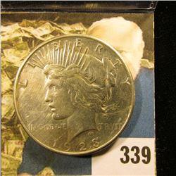 1923 S U.S. Peace Silver Dollar, VF.