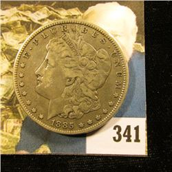 1885 P U.S. Morgan Silver Dollar, Fine.