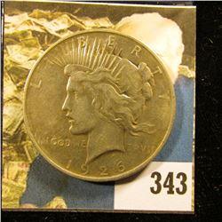 1926 D U.S. Peace Silver Dollar, Fine.
