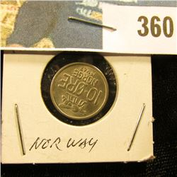 1967 Norway 10 Ore, Brilliant Uncirculated.