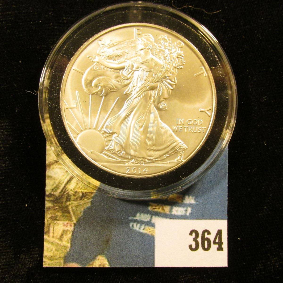 2014 .999 Fine Silver American Eagle $1 BU Dollar Coin Free Shipping!