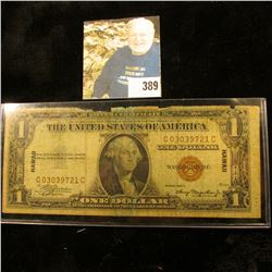 "Series 1935A One Dollar Silver Certificate Emergency World War II ""Hawaii"" Overprint."