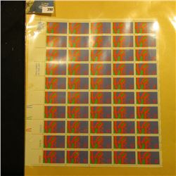 "Sheet of 50 Eight Cent Stamps United States Postage ""Love""; & 1932 Mint Sheet of 100 Christmas Seals"