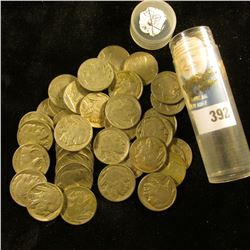 Roll of (40) Full Date Old Buffalo Nickels dating 1938 or before in a plastic tube.