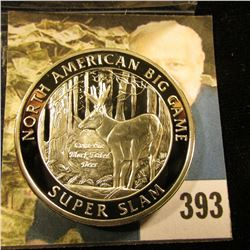 North America Big Game Columbia Blacktail Deer North American Hunting Club 39 mm medal layered in .9