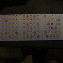1911-40 Partial Set of Lincoln Cents in a Whitman folder. Includes 1911P, 16P, 19P, D, S,  & etc.