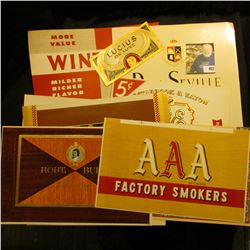 (10) Different Old Colorful Cigar Box labels.