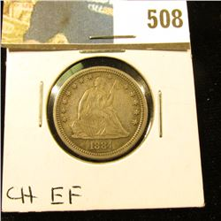 1884 P Better Date Seated Liberty Quarter. Choice EF.