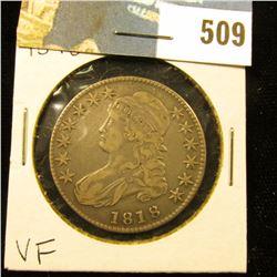 1818 Bust Half Dollar, VF.