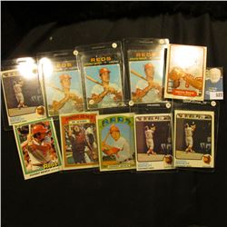 (10) Johnny Bench Baseball Cards, various years and conditions, 1970-80 era. 'Doc' had these priced