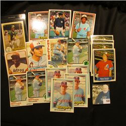 (20) Old Baseball Cards dating in the Seventies and eighties.