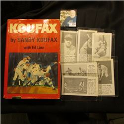 "1966 Second printing ""Koufax"", by Sandy Koufax with Ed Linn, hardbound with dust cover; & (6) differ"