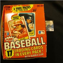 1981 Fleer Box with several hundred 1981 Fleer Baseball Trading Cards, none in original packs.