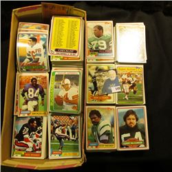 Shoe Box full of old Football Cards dating in the Seventies and eighties.