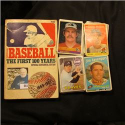 """Professional Baseball The First 100 Years Official Centennial Edition"", paperback book; & an intere"