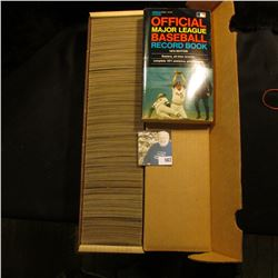 14  Card Stock Box about full of 1971 Topps Baseball Cards; & 1972 edition  Official Major League Ba
