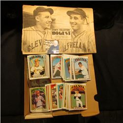 "14"" Card Stock Box 80% full of 1972 Topps Baseball Cards; & a 1977 Sports Collectors Digest."