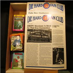 "1984 & 85 editions ""Die Hard Cubs Fan Club An International Society""; & 14"" Card Stock Box 25% full"