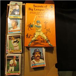 "1965 ""Secrets of Big League Play"", by Robert Smith, hardbound; & a 14"" Stock box full of 1976 Topps"